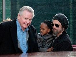 K usmíření s otcem přiměl Angelinu Jolie Brad Pitt, aby jejich děti měly i...
