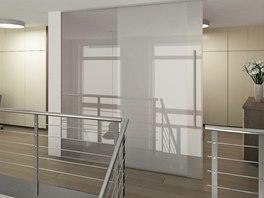 Vizualizace: použití skla na galerii
