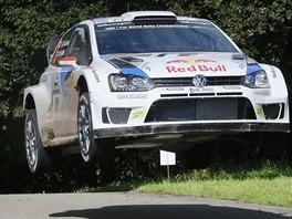 Jari-Matti Latvala na trati Německé rallye.