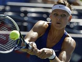 Česká tenistka Lucie Šafářová v duelu 3. kola US Open s Alize Cornetovou z...