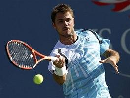 Stan Wawrinka v zápase 1. kola US Open s Jiřím Veselým