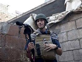 James Foley v syrsk�m Aleppu v listopadu 2012.
