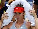 CHLAZENÍ. Ruská tenistka Maria Šarapovová se potřebovala v osmifinálovém duelu...