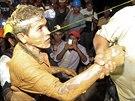 Záchranáři vysvobodili 20 horníků ze zavaleného dolu v Nikaragui (29. srpna...