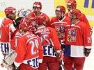 ČERVENÍ. Mistři světa z let 1999-2001 nastoupili v červených.