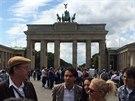 V�t�zov� sout�e Aliante p�ed Braniborskou br�nou v Berl�n�