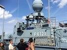 Vítězové soutěže Aliante na základně německého námořnictva ve Warnemünde