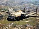 """AC-119 byl """"gunship"""" adaptovaný z transportního dvoumotorového stroje C-119 Flying Boxcar.  AC-119 vznikl jako provizorium pro překlenutí období, než bude vyroben dostatečný počet AC-130, neboť stroje Hercules bylo potřeba především v dopravní verzi."""
