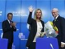 Zleva: Nový předseda Evropské rady Donald Tusk, budoucí šéfka evropské