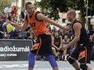 Český reprezentant Jan Stehlík (vpravo) během semifinále turnaje Svétové série...