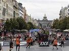 Momentka z turnaje Svétové série basketbalistů 3x3, který se uskutečnil v Praze...