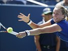 ÚSILÍ. Tenistka Petra Kvitová je známá bojovnice, ve 3. kole proti Srbce...