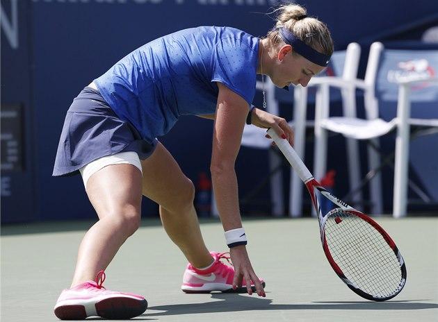 NEDA�Í SE. Petra Kvitová ve 3. kole US Open.