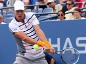 �eský tenista Tomá� Berdych hraje ve 3. kole US Open.