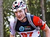 Ondřej Moravec při mistrovství republiky v biatlonu na kolečkových lyžích.