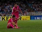Real Madrid se poprvé p�edstavil v r�ových dresech.