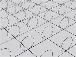 """Čtvercová síť znázorňuje běžně známé """"velké"""" dimenze, zatímco kružnice novou,..."""