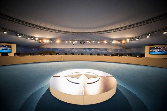 Jednací sál pro summit NATO ve Walesu