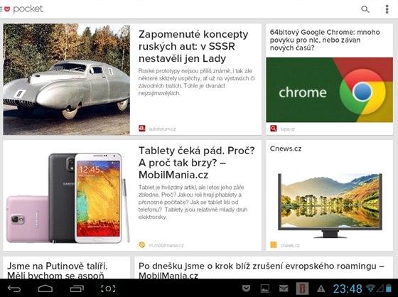 Díky aplikaci Pocket si můžete přečíst uložené články i bez připojení k...