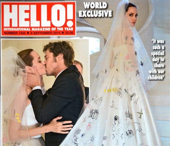 Časopisy Hello! a People se podělily o náklady na fotky ze svatby Angeliny...