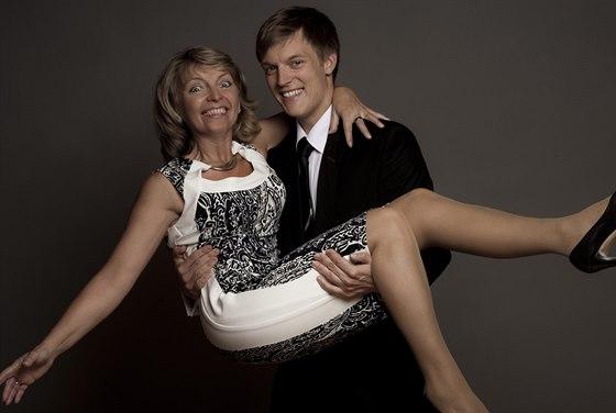Tomáš Verner s maminkou Helenou