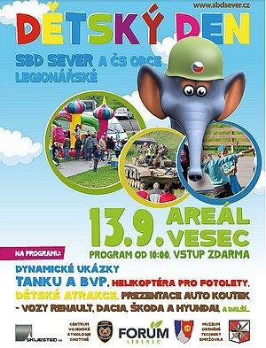 Zveme na Dětský den SBD Sever a Čs. Obce legionářské
