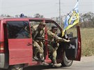Bojovn�ci ukrajinsk�ho dobrovolnick�ho praporu Azov na p�edm�st� Mariupolu (4....