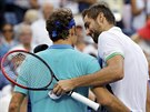 Chorvatský tenista Marin Čilič porazil v semifinále US Open Rogera Federera.