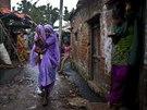 Lidé v Novém Dillí (3. září 2014).
