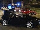 Řidič vozidla Jaguar nesvítil, ve Vršovicích naboural dvě auta (4.9.2014)