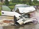 Vážná dopravní nehoda na tahu Brno - Uherské Hradiště (31. srpna 2014).
