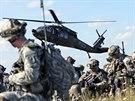 Příslušníci americké 173. výsadkové brigády na cvičení Sabre Junction v...