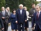 Prezident Miloš Zeman navštívil v první školní den Základní školu v Lánech (1....