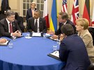Ukrajinsk� prezident Poro�enko byl logicky vzhledem k d�n� v jeho zemi ve...