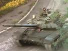 Rusk� tank T-72BM na Ukrajin�