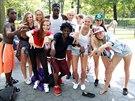 Hradecká taneční skupina T-Bass si zatančila s místními v Central Parku v New...