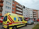 V brn�nsk� ulici ���ansk� vyho�el byt (7. z��i 2014).
