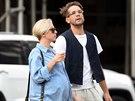 Těhotná Scarlett Johanssonová se svým snoubencem Romainem Dauriacem