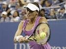 Martina Hingisová ve finále čtyřhry na US Open.