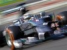 Lewis Hamilton ze stáje Mercedes ovládl kvalifikaci na Velkou cenu Itálie...