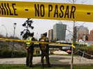 Policie hlídá oblast kolem stanice metra v hlavním městě Chile, kde vybuchla...