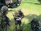Vojáci z Přáslavic si během závěrečné přípravy vyzkoušeli například i...