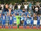 Liberečtí fotbalisté slaví výhru v Ústí.