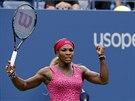 JO! Serena Williamsová zatíná pěst a raduje se, na US Open prošla poprvé v...