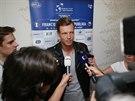 TÝMOVÁ JEDNIČKA. Tomáš Berdych byl před odletem do Paříže sice unavený, ale na...