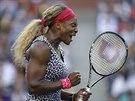 Serena Williamsová se raduje během finále US Open