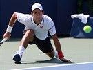 Novak Djokovič během semifinále US Open