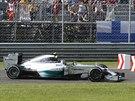 Nico Rosberg na okruhu v Monze