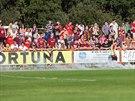 Sparťanští fanoušci na utkání domácího poháru proti divizním Živanicím