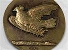 Návrh medaile Mezinárodní ceny míru 1950 zhotovený medailérem André...